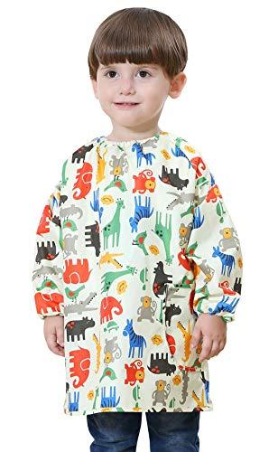Dawding – babyslabbetjes, blouse, schilderen, waterdicht, voor jongens en meisjes, lange mouwen, tassen, school, voor kinderen 1 – 6 jaar.