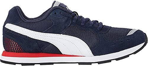 PUMA Unisex-Erwachsene Vista Sneaker, Blau (Peacoat White-High Risk Red), 44 EU