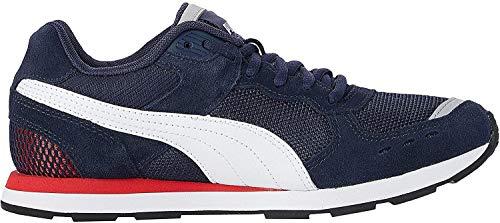 PUMA Unisex-Erwachsene Vista Sneaker, Blau (Peacoat White-High Risk Red), 45 EU