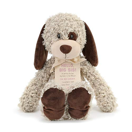 DEMDACO Big Sister Puppy Soft Brown 13 inch Plush Material Stuffed Animal Figure Toy