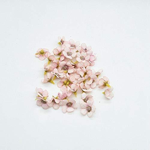 50st MINI zijde daisy Multicolor nep Flower Head scrapbooking diy kerst slinger goedkope kunstbloemen voor home decor, licht roze