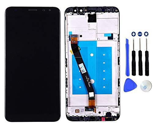 Schermo Display LCD per Huawei Mate 10 Lite RNE-L01 RNE-L21 RNE-L23 Nero con Cornice, Touch Screen Digitizer Vetro Parti di Ricambio (Black with Frame)