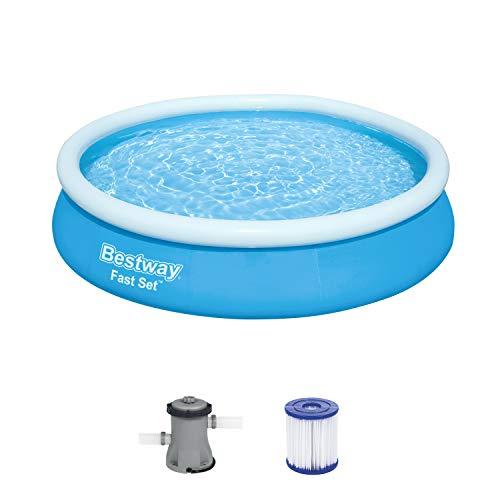 Bestway Fast Set Pool-Set mit Filterpumpe, rund, 366 x 76 cm