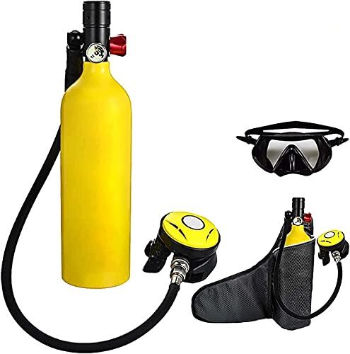 VTAMIN Attrezzatura da immersione subacquea, 1L tubo di imbitazione del serbatoio di ossigeno respiro il dispositivo subacqueo, 15-20 minuti Capacità ricaricabile Vuota serbatoio dell'aria del serbato