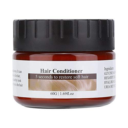 Maschera per capelli alla cheratina balsamo profondo, Maschera per capelli da 60g Nutriente Idratante Riparazione Cura dei capelli danneggiati per capelli fini sottili ricci o lisci(60g)
