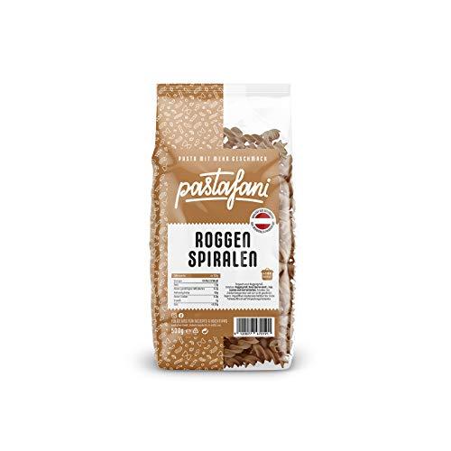 pastafani Roggen Spiralen 500g - Die kraftvolle Pasta aus natürlichen, qualitativ hochwertigen Zutaten ohne Aroma- oder Zusatzstoffe, vegan