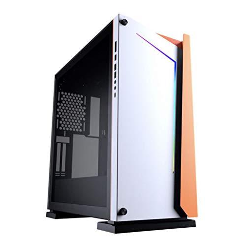 LIQIANG Caja de la computadora, Soporte de Placa Base Grande ATX, Caja Transparente Lateral, Soporte de Caja Principal Grande refrigerado por Agua