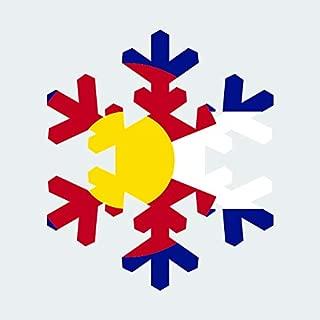 Colorado Snowflake Sticker FA Graphix Vinyl Decal CO Snow Flake Snowboard Skiing skii - 3.68 Wide