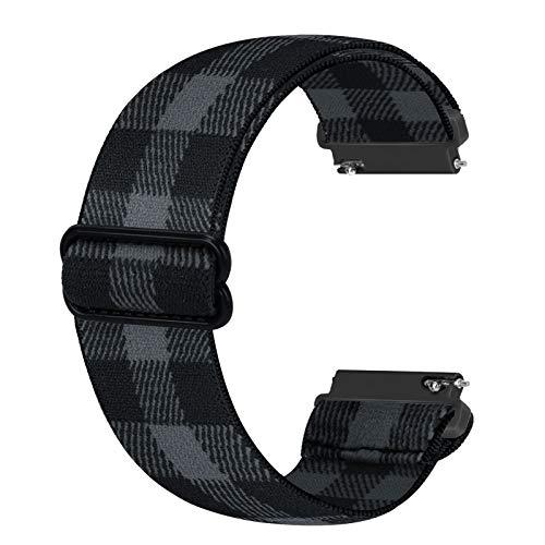 Ecogbd 22mm Correa de repuesto elástica compatible con Galaxy Watch 46mm / Galaxy Watch 3 45mm / Gear S3 / Huawei Watch GT2 46mm, correas de nailon de tela suave para hombres (Gris l)
