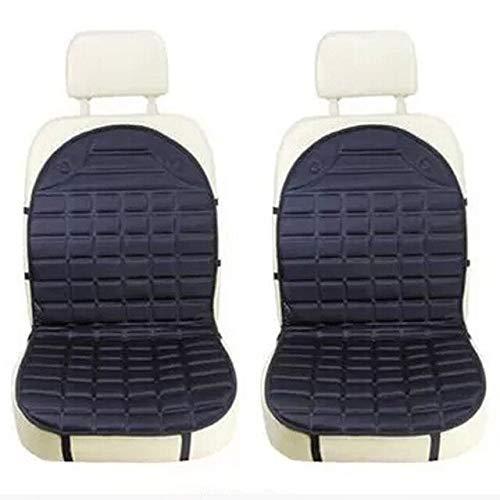 YBINGA Car Seat Cover Car Heated Seat Cushion Hot warmer auto Cover 12V Heat Heater car Warmer Pad car heating pads (Color : Black 1 set)