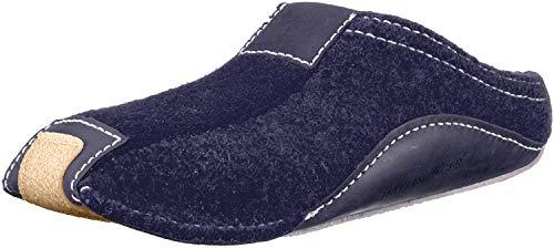 Haflinger Pocahontas, Unisex-Erwachsene Pantoffeln, Blau (Kapitän 79), 44 EU