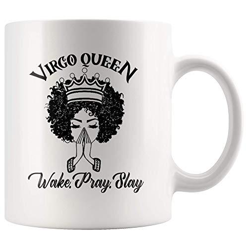 Mok Astrologie sterrenbeeld geschenken koningin geboren 23 augustus 22 september keramiek horoscoop wit theekopje