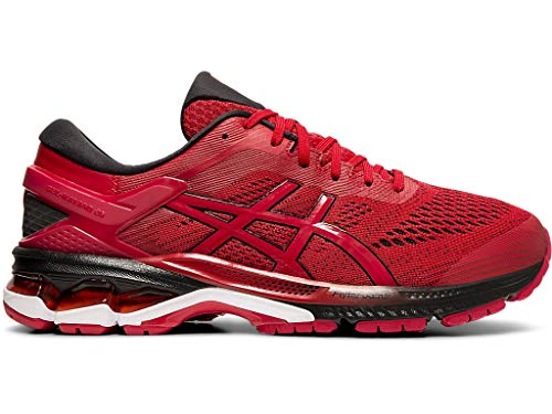 ASICS Men's Gel-Kayano 26 Running Shoes, 9M, Speed RED/Black