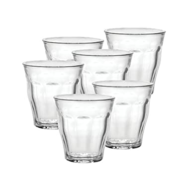 Duralex Made In France Picardie 8-3/4-Ounce Clear Tumbler, Set of 6
