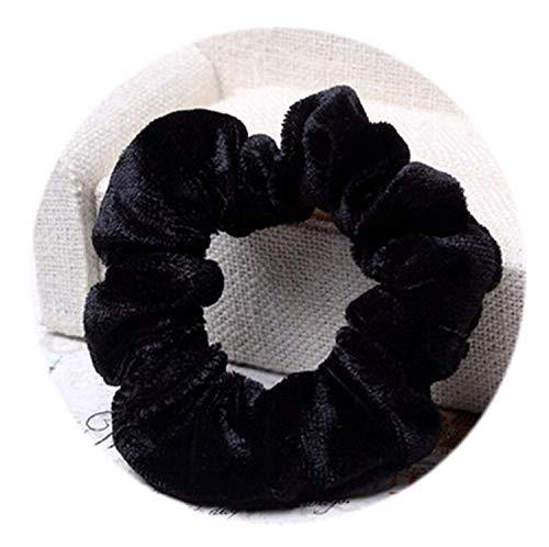 OULN1Y Bandeaux New 10 Pcs/Pack Useful Scrunchy Hair Rope Donut Elastic Velvet Hairband Women Ponytail Holder Hair Flannel Headwear,Black