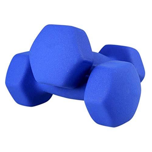 Shengluu Mancuerna Home Fitness Brazo Pesos de Mano Pilates Pewards Set (Color : Dark Blue, Talla : 2KGx2)