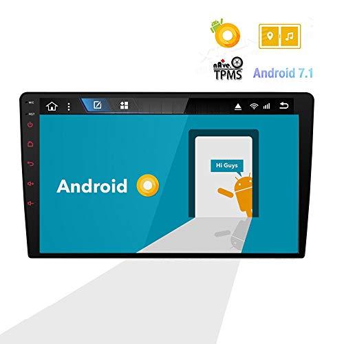 Reproductor de Radio estéreo para automóvil de 9 Pulgadas Receptor de Medios en Tablero para Android 8.0 con CarPlay y Android Auto/GPS/Bluetooth/Control del Volante/Cámara de visión Trasera