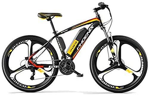 Bicicleta eléctrica de nieve, 38V 250W Bicicleta eléctrica Bicicleta eléctrica de montaña de 26 pulgadas Neumáticos E-Bici 27 Velocidades Frenos for hombre de los deportes de montaña bici de la baterí