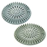 Hair Catcher,Drain Hair Catcher,Durable Silicone Hair Stopper,Suction Cups Hair Stopper,Shower Drain Covers,Easy to Install and Clean Suit for Kitchen Sink and Bathroom Sink (2 Pack)