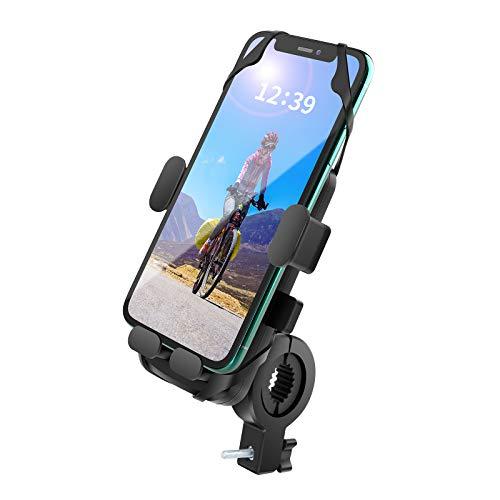 Handyhalterung Fahrrad, Handyhalter Motorrad, Universal Motorrad Handy Halterung für 4,7-6,5 Zoll Smartphone, 360°drehbar Outdoor Fahrrad Halter für Rennrad MTB Scooter, Face ID/Touch ID kompatibel