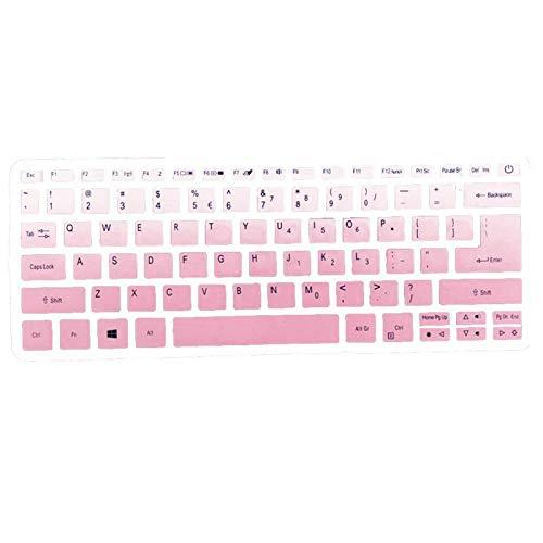 1 x Silikon-Tastaturabdeckung für Acer Swift 3 SF314-52 SF314-54 / Swift 1 SF114-32 14 Zoll i5 8250U Notebook, Pink