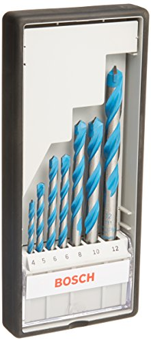 Bosch Professional 2607010543 7-Piece CYL-9 Multipurpose Drill Bit Set (Multi Construction, Accessories for Drills with a Round Shank Drill Bit Socket), Silver, 25.0 cm*45.0 cm*40.0 cm