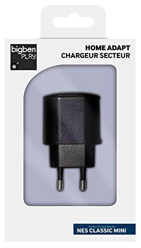 Bigben Play Nintendo Ness Mini - Adaptador de corriente con dos salidas USB, color negro