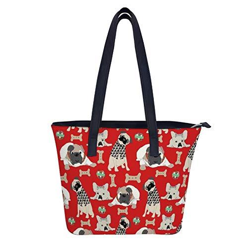 Kurze Nasen Geldbörsen und Handtaschen für Damen, modische Damen Handtasche aus PU-Leder mit Griff oben