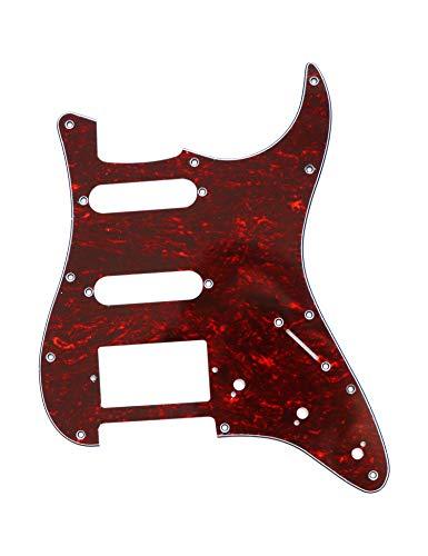 Gitarren-Plektrum, 3-lagig, 11 Löcher, 2 Einzel-Tonabnehmer, 1 Humbucker-Tonabnehmer SSH für Fender Standard Stratocaster Red Pearl