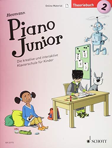 Piano Junior: Theoriebuch 2: Die kreative und interaktive Klavierschule für Kinder. Band 2. Klavier. Ausgabe mit verschiedenen Online-Materialien. (Piano Junior - deutsche Ausgabe)