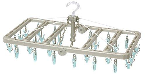 東和産業 洗濯ハンガー ウチドライ 折りたたみ 角ハンガー ピンチ32個付き