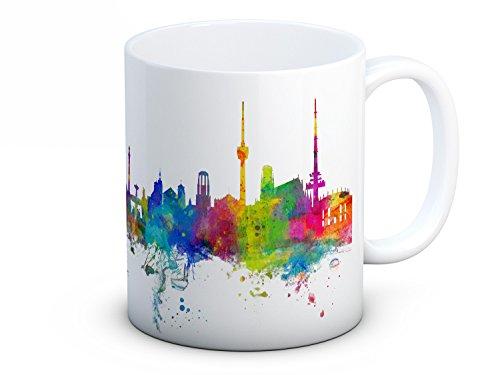Stuttgart Skyline Deutsche Stadtbild - Hochwertigen Kaffee oder Tee Tasse