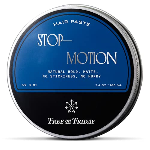 Free on Friday Matte Hair Paste for Men - Sculpting, Styling Hair Clay Pomade with Kaolin - Natural Water Based Men's Molding Paste Flexible Hold for All Hair Types with Matte Finish