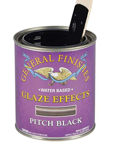 General Finishes Water Based Glaze Effects, 1 Quart, Pitch Black