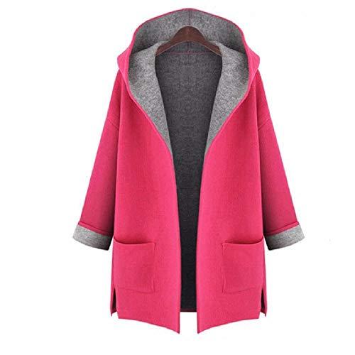 NOBRAND XL - Abrigo elegante para mujer, otoño e invierno, color rosa y amarillo