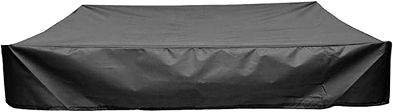 WZDTNL Sandbox Protective Cover, Square Polyester Away from Dust & Fallen Leaves, Waterproof Black Sandpit Protective Cove...