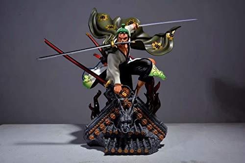 One Piece:Roronoa Zoro Pirate Hunter 50cm Figura Decoración del Hogar Artesanías Modelo Figuras Animado Artesanía De Oficina Estatua