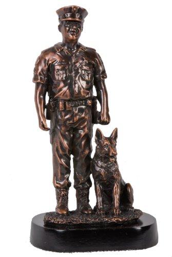 U Bargain Mall 8' Bronze Police Officer with K9 Figurine