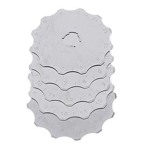 harayaa Cuchillas de Cortador de Galletas de Ganchillo Rotativas de 5 Piezas de 45 Mm para Tela, Vellón,