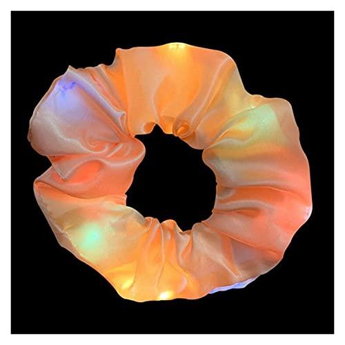 Banda para el Pelo de Las señoras Chicas Luminosa scrunchies Hairband Cola de Caballo Titular de la Cola Headwear Bandas elásticas de Pelo de Color sólido Accesorios para el Cabello (Color : 6