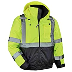 """WIND + WATER RESISTANT – 300D oxford polyester outer shell + PU coating resists wind and water to keep you dry 160g INSULATION – Body and sleeves are lined with 160g thermal quilted insulation for warmth without the extra bulk TYPE R, CLASS 3 – 2"""" AN..."""