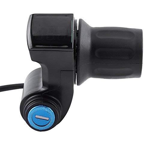 eecoo Manillar de acelerador para bicicleta eléctrica con indicador LED y acelerador de batería