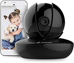 Amcrest Zencam WiFi Camera, Pet Dog Camera, Nanny Cam with Two-Way Audio, Baby Monitor with Cell Phone App, Pan/Tilt Wi-Fi Wireless IP Camera, Micro SD Card, RTSP, Cloud, Night Vision, M1B