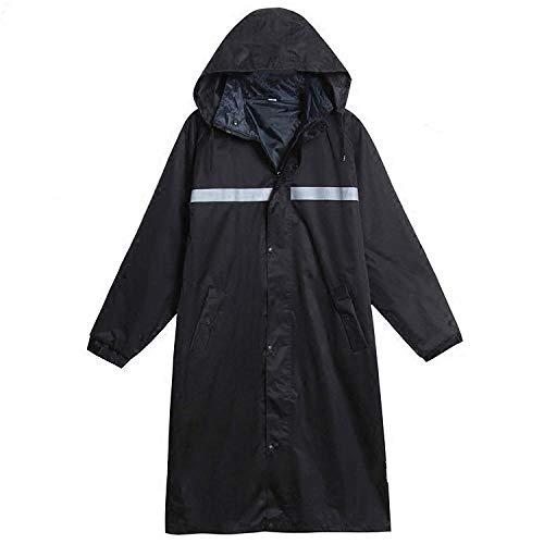Wasserdichte Regenjacke Langer Regenmantel verdicken strapazierfähige Outdoor-Erwachsene Männer wasserdichte Regenjacke Polizei Arbeitsmotorrad Regenbekleidung Trenchcoat Hood Long_raincoat_XL