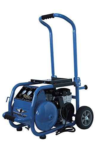 Eagle EA-6000 Silent Series 6000 Air Compressor 125 psi MAX Hot Dog with Panel and Wheels, Blue, 6...
