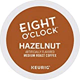 Eight O'Clock Coffee Hazelnut, Single-Serve Keurig K-Cup Pods, Flavored Medium Roast Coffee, 72 Count