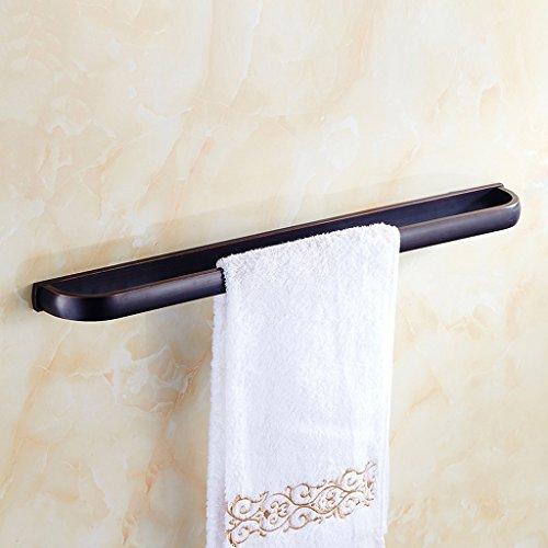 DY alle bronzen shanddoekhouder in antieke Europese stijl, zwart brons, handdoekenrek, handdoekenrek, hangend, landelijke retro, handdoekwarmer, dikke