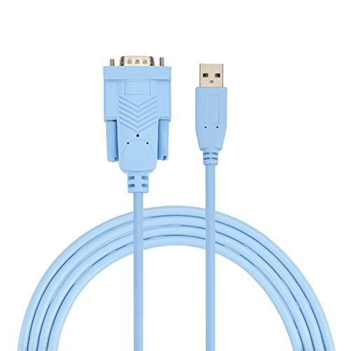 AGS detaljhandels USB till RS232-adapter med FTDI chipset 1,8 m USB 2.0 till RS232 hane DB9 seriell omvandlingskabel