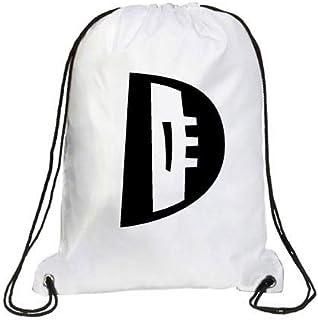 IMPRESS Drawstring Sports Backpack White with Joker Letter D