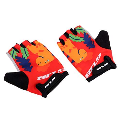 T TOOYFUL Kinder Radfahren Reiten Skaten Klettern Handschuhe Balance Pedal Monkey Bar Mittens - Giraffe M